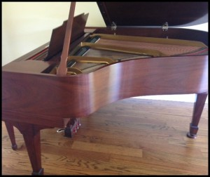 Steinway Baby Grand Piano side view